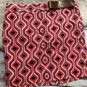 Michael Kors print pencil skirt 14P